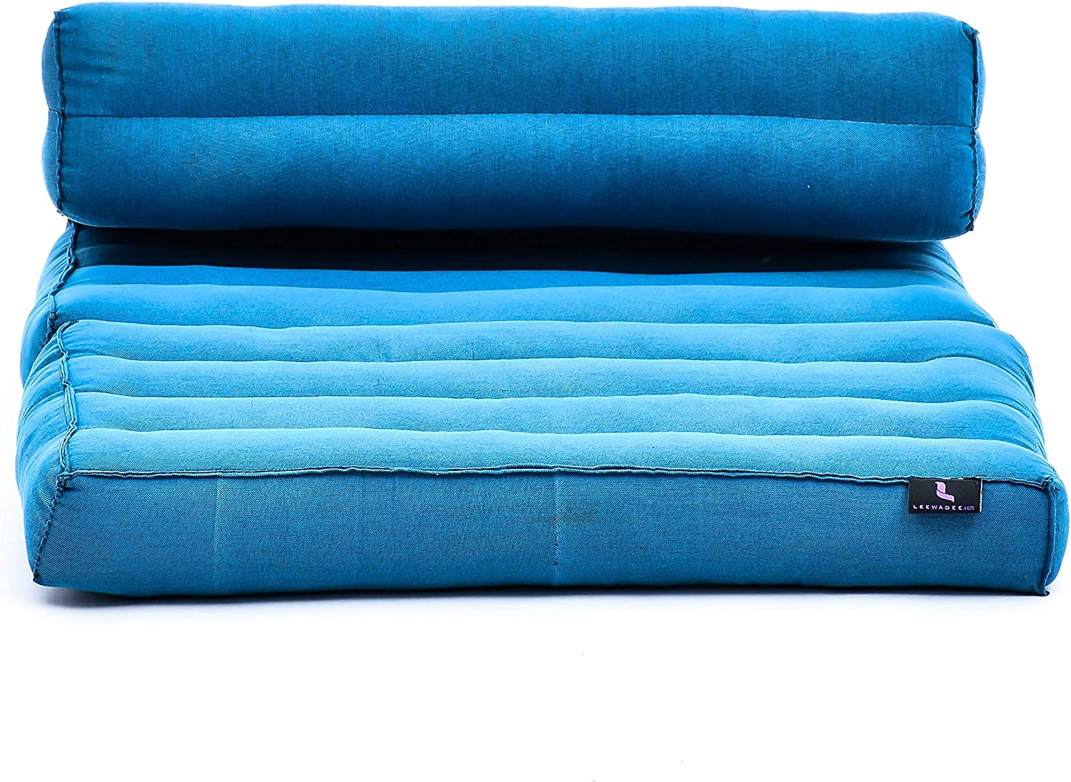 Leewadee Foldable Meditation Floor Seat 2 in 1 Set Meditation Pillow and Cushion Underlay in One Eco-Friendly Organic and Natural Kapok