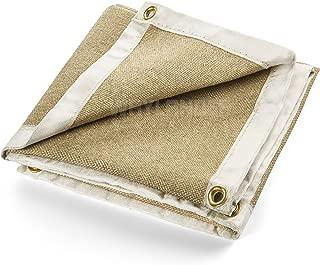 Waylander Welding Blanket Premium 3' x 3' 1400°F Heavy Duty Welders Kevlar Stitched Vermiculite Impregnated Fiberglass with Brass Grommets