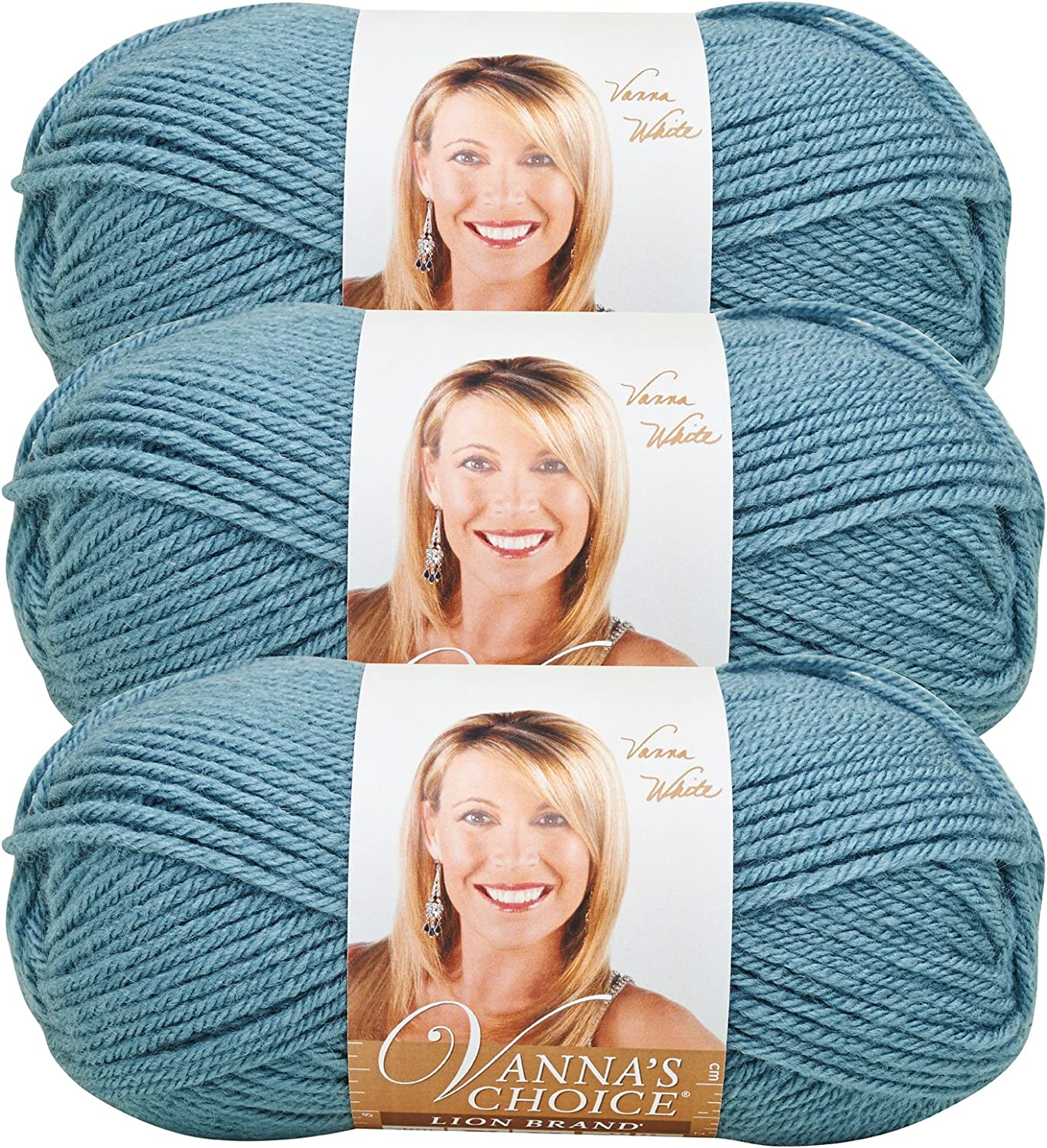 price Lion Super beauty product restock quality top Brand Vanna's Choice Yarn Blue 860-108 3-Pack Dusty