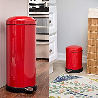 Amazon.com: Red - Kitchen Trash Cans / Trash, Recycling ...