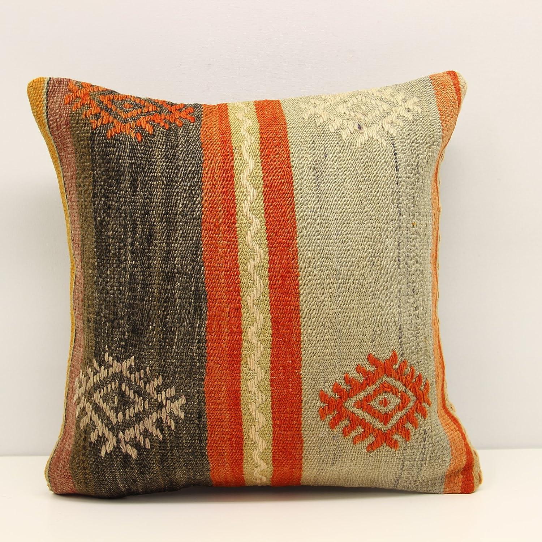 outlet Kilim pillow 16x16 inch 40x40 Ranking TOP6 Decorative Boho cm kelim