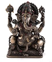 Top Collection Ganesh Statue- Lord of Prosperity & Fortune Sculpture in Cold Cast Bronze-5.75-Inch Figurine