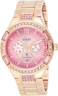 Guess Lollipop Women's Pink Dial Stainless Steel Band Watch