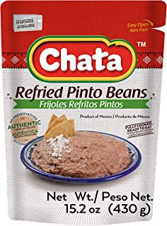 CHATA Refried Pinto Beans 15.2 Oz Pouch | Pack 3