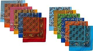 12pzas Paliacate tipo Bandana Tradicional Varios Colores Docena surtida con 6 colores o más