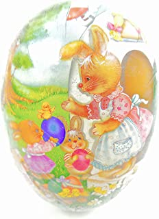 Easter Egg Treat Filling Container,Easter Rabbit Mom Receiving Easter Egg Gifts from her Bunny Children,6