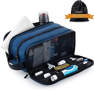 Lizzton Toiletry Bag for Men Travel Large Dopp Kit Water-resistant Women Shaving Bag Portable Toiletries Organizer Bathroom Storage Bags (Blue)