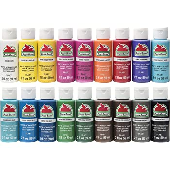 Amazon Com Decoart Acrylic 2 Oz 12 Count Brights Craft Paint Value Pack 24 Oz