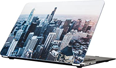 Funut MacBook Air 13 Inch Case Smooth Hard Shell Slim Protective Case Rubberized Bottom Cover for Apple MacBook Air 13.3 Inch (A1466 & A1369) (Skyscraper)