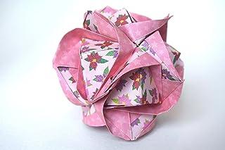 origami Clover Kusudama, 12 moduli rosa
