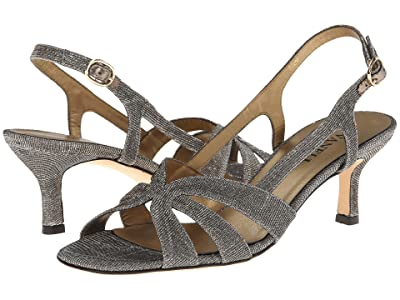Vaneli Maeve (Platinum Nizza Fabric/Gold Buckle) Women