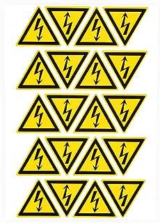 100pcs 25mm High Voltage Warning Labels Caution Risk Shock Danger Electric Hazard Stickers