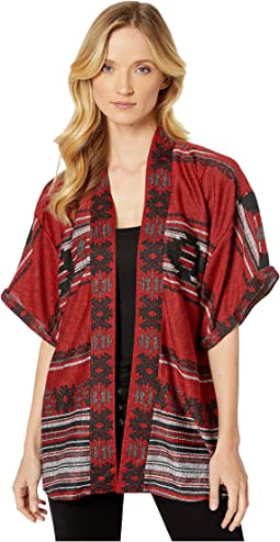 Aztec Stripe Border Red