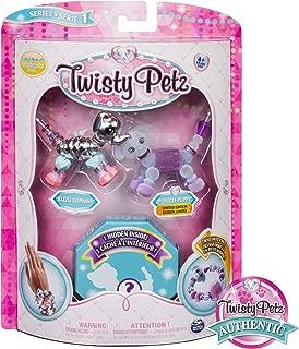 Twisty Petz Collectible Bracelet Set, Elephant, Puppy & Surprise Pet