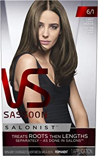 Vidal Sassoon Salonist Hair Colour Permanent Color Kit, 6/1 Light Cool Brown