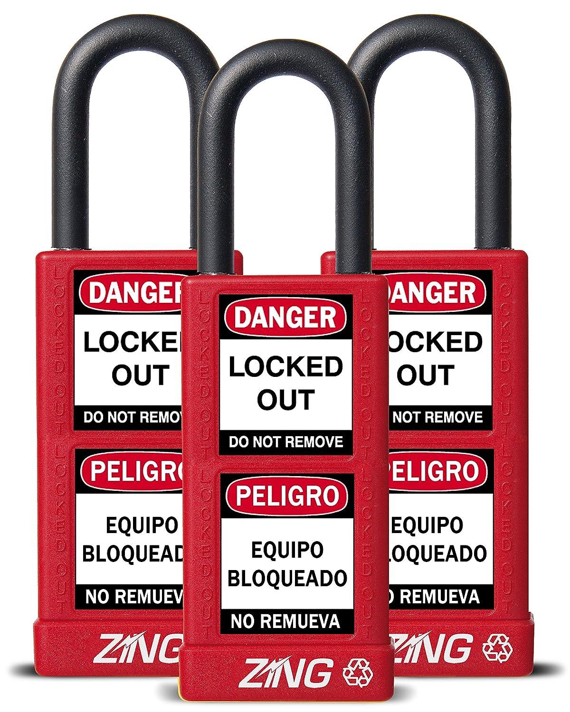 ZING Mesa Mall 7086 RecycLock Safety Padlock Max 54% OFF Alike Keyed Shackle 1-1 2