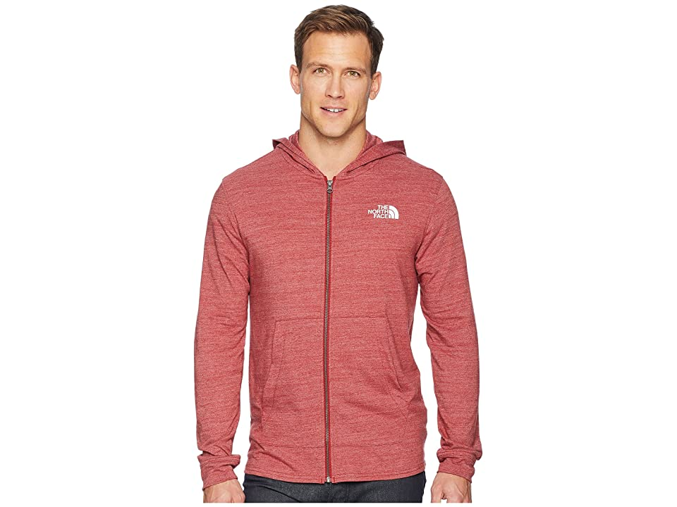 The North Face Americana Full-Zip Hoodie (Cardinal Red Heather) Men