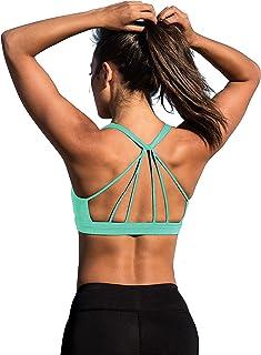 icyzone Femme Soutien-Gorge de Sport sous-vêtements Bra Brassière pour Jogging Yoga Gym Fitness