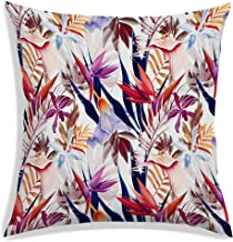 RADANYA Polyester Tropical Leaf Pattern Throw Pillow Covers Decorative Pillowcase 20X20 Inches-Insert not Included