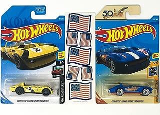 HW Corvette Grand Sport Roadster Hot Rod Bundle Plus American Flag Stickers