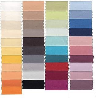 Estella Drap-housse Mako 100 x 200 cm en fil jersey jersey couleur terre cuite 370 140 x 200 cm