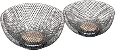NIFTY 7532ORB Double Wall Mesh Decorative and Fruit Bowls, 2 Piece