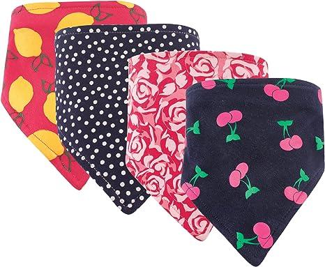4-Pack Roses /& Arcos Hudson Baby Girl Bandana babero