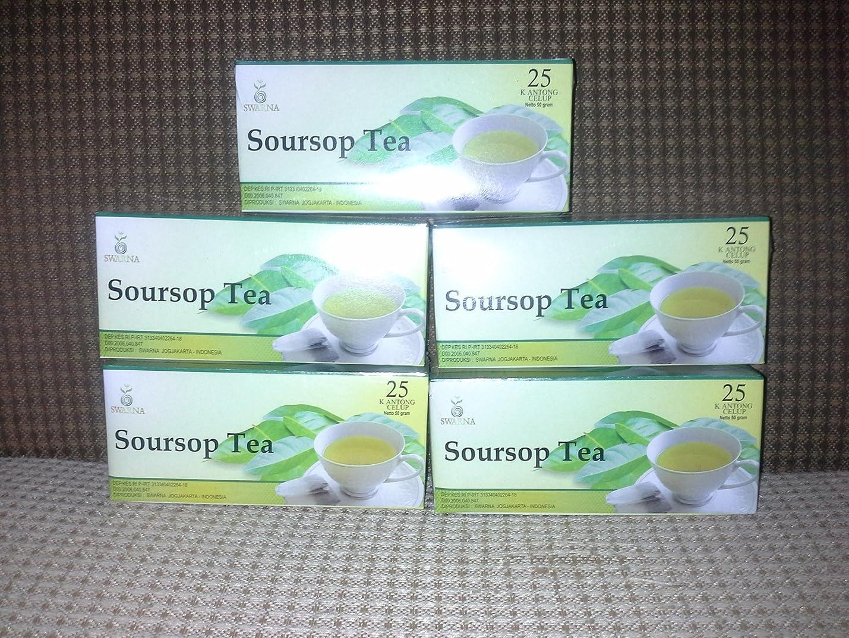 後在庫丁寧Graviola / soursop Leaves Tea抽出ナチュラル、3ボックスX 25?Teabags = 75?Teabags