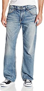 Silver Jeans Co. Men's Gordie Loose Fit Straight Leg Jeans,Light Indigo,30x34