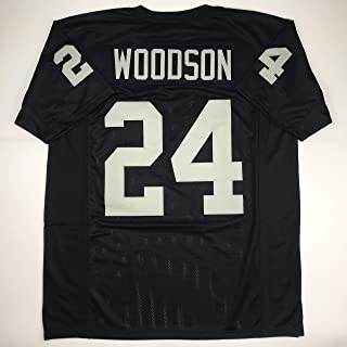 Unsigned Charles Woodson Oakland Black Custom Stitched Football Jersey Size Men's XL New No Brands/Logos