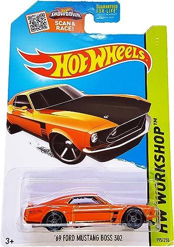 Hot Wheels Hw Workshop Orange '69 Ford Mustang Boss 302 - 2015 Speed Team 195 250