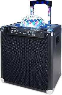 ION Audio ミラーボール付ポータブルPAスピーカー 75時間バッテリー Bluetooth対応 マイク付属 Block Party Live