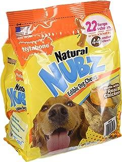 (pack of 2) Nylabone Natural Nubz Edible Dog Chews 22ct. (2.6lb/bag) -Total 5.2lb