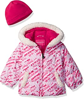 Baby Girls Puffer Jacket with Hat
