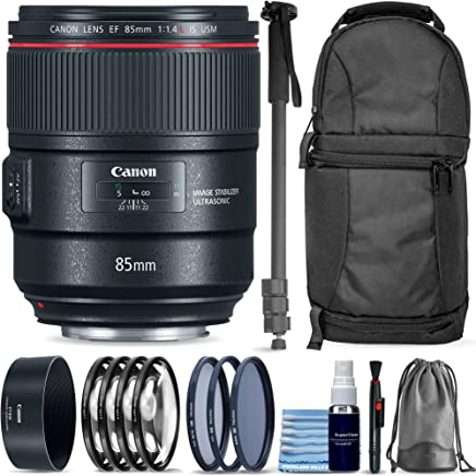 $1499 » Canon EF 85mm f/1.4L is USM Lens + Sling Backpack + Monopod + 3 Piece Pro Filter Kit + 4 Piece Close-Up Lens Set + Lens Pen + Lens Cleaning Kit Pro Travel Bundle