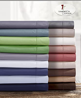 King Mellow Green Marwah Corporation 750ECSAPCKIPG TRIBECA LIVING 750 Thread Count Egyptian Cotton Pillowcase Set