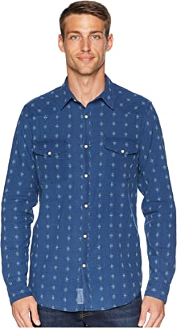 Indigo Dobby Western Shirt