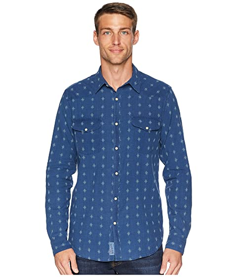 11eaadf17c Lucky Brand Indigo Dobby Western Shirt at 6pm