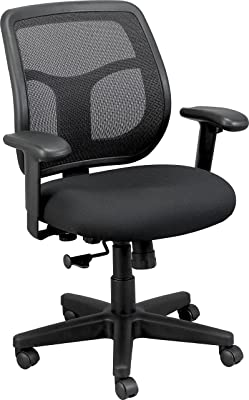 Eurotech Seating Apollo Midback Swivel Chair, Black
