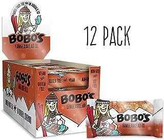 Bobo's Oat Bars, Gingerbread, 3 oz Bar (12 Pack), Gluten Free Whole Grain Snack and Breakfast Bar