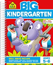 School Zone - Big Kindergarten Workbook - Ages 5 to 6, Early Reading and Writing, Numbers 0-20, Basic Math, Matching, Stor...
