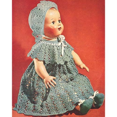 Crochet Dolls Dress Pattern Amazoncom