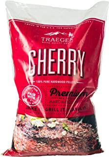 Traeger Grills PEL309 Cherry 100% All-Natural Hardwood Pellets Grill, Smoke, Bake, Roast, Braise and BBQ, 20 lb. Bag,