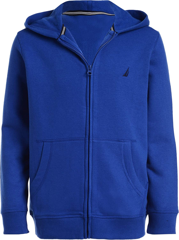 Nautica Boys' Fleece Zip-up Hoodie Sweatshirt