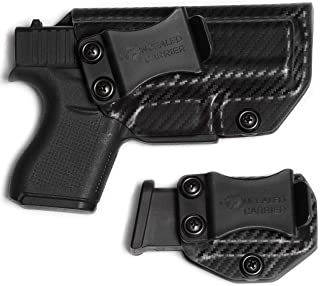 IWB Glock 43 / Glock 43X Holster with Magazine Holster (not 43X mag) | Made in USA by Combat Veteran Owned Company | Mag Pouch | Concealed Carry Clip CCW Holsters Inside The Waistband