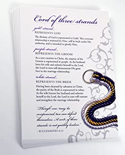 God's Knot Cord of Three Strands Explanation Cards - Pack of 20