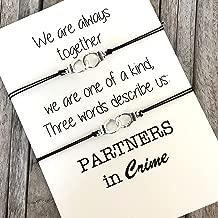 Partners in Crime Bracelets, Handcuff bracelets, Best Friend bracelets, Matching bracelets, Friendship bracelets, BFF bracelets, Best friend gifts, BFF bracelet set