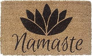 Entryways 1077S Namaste Handmade/Hand-Stenciled/All-Natural Coconut Fiber Coir Doormat, 18