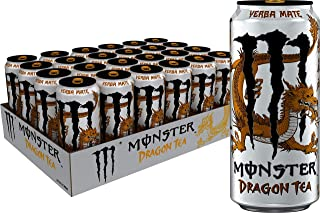 Monster Energy Dragon Tea, Yerba Mate, 15.5 oz (Pack of 24)