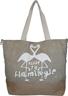 Ready to Flamingle Fashion Beach Tote Bag